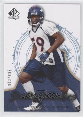 2008 SP Authentic #199 - Rookie Authentics - Wesley Woodyard /999