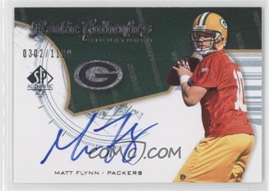 2008 SP Authentic #228 - Rookie Authentics Signatures - Matt Flynn /1199