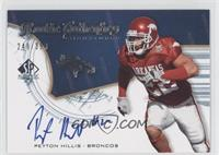 Rookie Authentics Signatures - Peyton Hillis /399