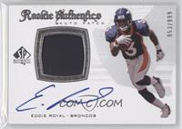 Rookie Authentics Auto Patch - Eddie Royal /999