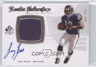 2008 SP Authentic #285 - Rookie Authentics Auto Patch - Ray Rice /999