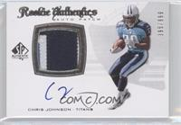 Rookie Authentics Auto Patch - Chris Johnson /999