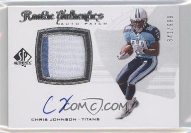 2008 SP Authentic #288 - Rookie Authentics Auto Patch - Chris Johnson /999