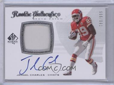2008 SP Authentic #293 - Rookie Authentics Auto Patch - Jamaal Charles /999