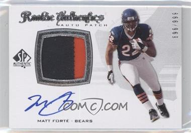 2008 SP Authentic #298 - Rookie Authentics Auto Patch - Matt Forte /999