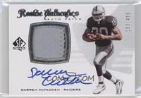 Rookie Authentics Auto Patch - Darren McFadden /499