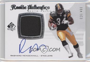 2008 SP Authentic #304 - Rookie Authentics Auto Patch - Rashard Mendenhall /499