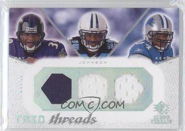 2008 SP Rookie Threads - Trio Threads - Hept/Oct/Hept #TT-RJS - Ray Rice, Chris Johnson, Kevin Smith /45