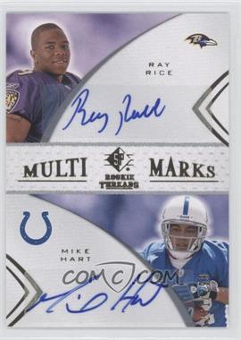 2008 SP Rookie Threads Multi-Marks Dual #MMD-34 - Mike Hart, Ray Rice /299