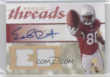 2008 SP Rookie Threads Rookie Threads Player Initials HoloGold Patch Autographs [Autographed] #RT-ED - Early Doucet III /1