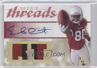 2008 SP Rookie Threads Rookie Threads Position HoloGold Patch Autographs [Autographed] #RT-ED - Early Doucet III /25