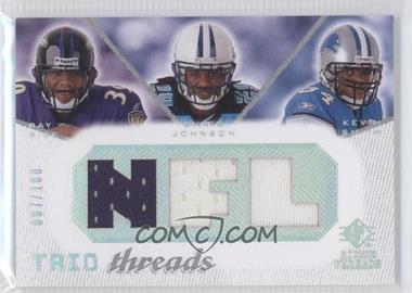 2008 SP Rookie Threads Trio Threads NFL #TT-RJS - Ray Rice, Chris Johnson, Kevin Smith /100