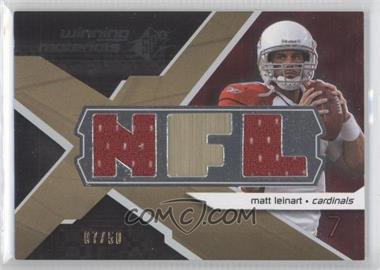 2008 SPx - Winning Materials - Dual Jersey NFL Letters #WM-LE - Matt Leinart /50