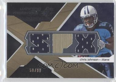 2008 SPx - Winning Materials - Dual Jersey SPX Letters #WM-CO - Chris Johnson /99