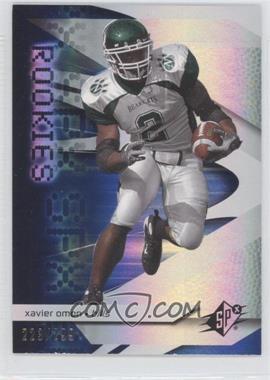2008 SPx Rookies Blue #93 - Xavier Omon /299