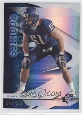 2008 SPx Rookies Blue #94 - Spencer Larsen /299