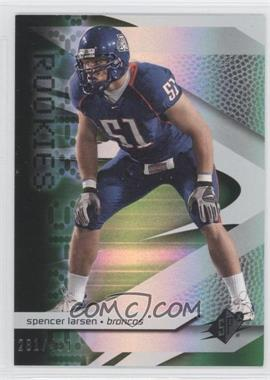 2008 SPx Rookies Green #94 - Spencer Larsen /499