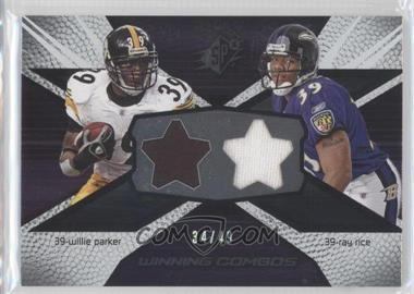 2008 SPx Winning Combos Stars #WC98 - Willie Parker, Ray Rice /49