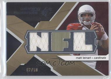 2008 SPx Winning Materials Dual Jersey NFL Letters #WM-LE - Matt Leinart /50