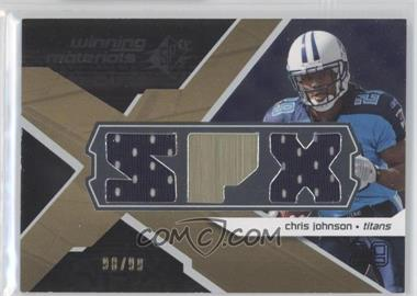 2008 SPx Winning Materials Dual Jersey SPX Letters #WM-CO - Chris Johnson /99