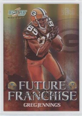 2008 Score Select - Future Franchise - Gold Zone #FF-11 - Greg Jennings /50