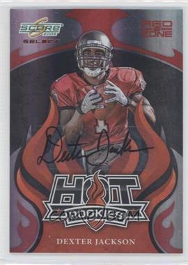 2008 Score Select - Hot Rookies - Red Zone Autographs [Autographed] #HR-7 - Dexter Jackson /25