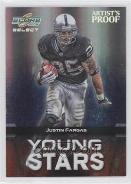2008 Score Select - Young Stars - Artist's Proof #YS-16 - Justin Fargas /32