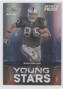 2008 Score Select - Young Stars - Artist's Proof #YS-25 - Zach Miller /32