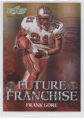2008 Score Select Future Franchise Gold Zone #FF-23 - Frank Gore /50