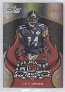 2008 Score Select Hot Rookies Gold Zone Autographs [Autographed] #HR-18 - Limas Sweed /40