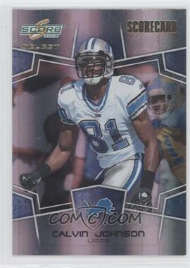 2008 Score Select Scorecard #101 - Calvin Johnson /100