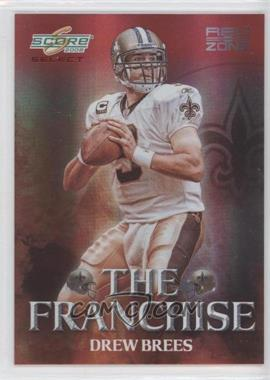 2008 Score Select The Franchise Red Zone #F-10 - Drew Brees /30