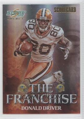 2008 Score Select The Franchise Scorecard #F-23 - Donald Driver /100