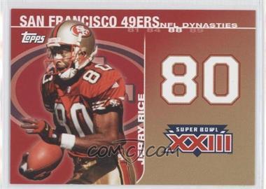 2008 Topps - NFL Dynasties Tribute #DYN-JR - Jerry Rice