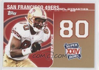 2008 Topps - NFL Dynasties Tribute #DYN-JR2 - Jerry Rice
