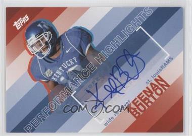2008 Topps - Performance Highlights - Autographs [Autographed] #THA-KB - Keenan Burton