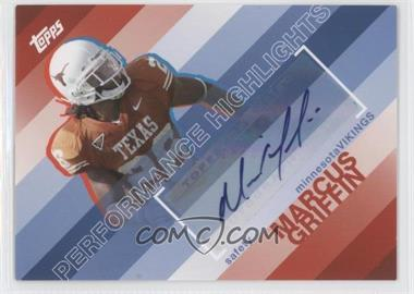 2008 Topps - Performance Highlights - Autographs [Autographed] #THA-MG - Marcus Griffin