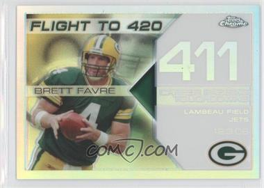 2008 Topps Chrome - Brett Favre Collection - White Refractor #BFC-411 - Brett Favre /100