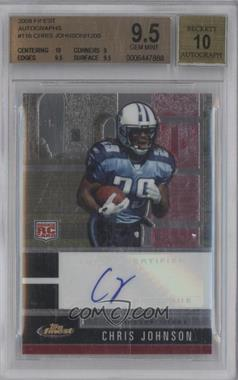 2008 Topps Finest Rookie Autographs #116 - Chris Johnson [BGS 9.5]