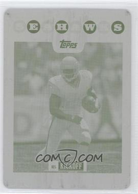 2008 Topps Kickoff - [Base] - Printing Plate Yellow #44 - Julius Jones /1