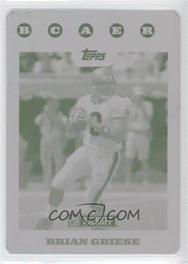 2008 Topps Kickoff Printing Plate Magenta #75 - Brian Griese /1