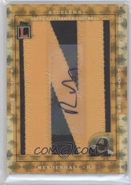 2008 Topps Letterman Autographed Letterman Patch Superfractor [Memorabilia] #AALP-RM - Rashard Mendenhall /1
