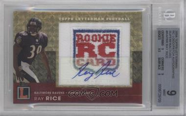 2008 Topps Letterman Autographed Rookie Logo Patch Superfractor #RAP-RR - Ray Rice /1 [BGS 9]