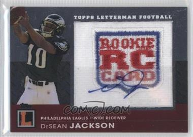 2008 Topps Letterman Autographed Rookie Logo Patch #RAP-DJ - DeSean Jackson