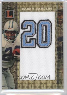 2008 Topps Letterman Jersey Number Patch Superfractor #JNP-BS - Barry Sanders /1