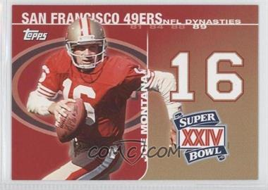 2008 Topps NFL Dynasties Tribute #DYN-JM - Joe Montana
