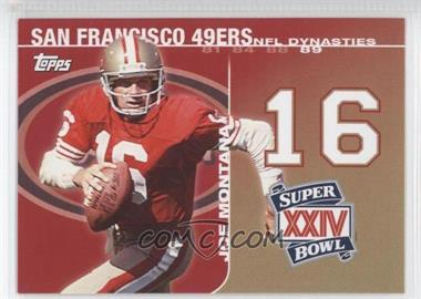 2008 Topps NFL Dynasties Tribute #DYN-JM - Joe Montana