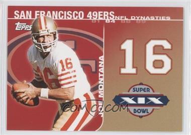 2008 Topps NFL Dynasties Tribute #DYN-JM2 - Joe Montana