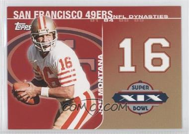 2008 Topps NFL Dynasties Tribute #DYN-JM2 - Joe Montana