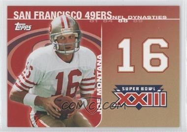 2008 Topps NFL Dynasties Tribute #DYN-JM3 - Joe Montana